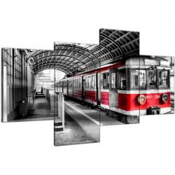 Pociąg na peronie 120x70