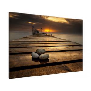 Dymaczewo Zachód słońca 210x100cm - Obraz na ścianę