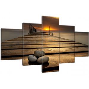 Dymaczewo Zachód słońca 150x100cm - Obraz na ścianę