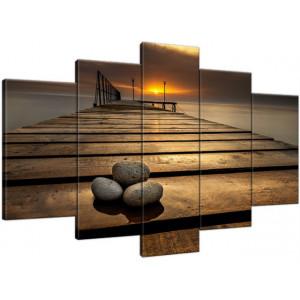 Dymaczewo Zachód słońca 150x80cm - Obraz na ścianę