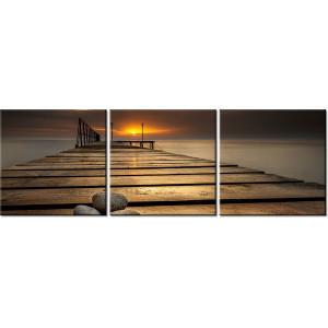 Dymaczewo Zachód słońca 140x80cm - Obraz na ścianę