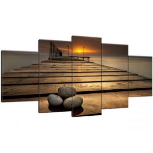 Dymaczewo Zachód słońca 180x100cm - Obraz na ścianę