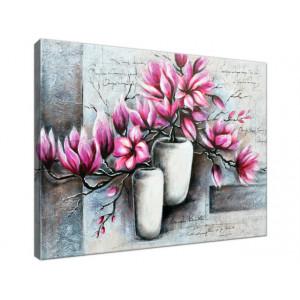 Magnolie w wazonach 40x30