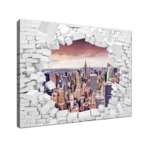 Ściana z widokiem na miasto...