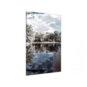 Zachód słońca nad jeziorem 40x30cm - Obraz na ścianę