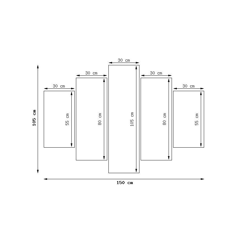 Chaty tatrzańskie 200x100cm - Obraz na ścianę