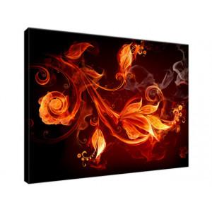 Płomienne kwiaty 40x30