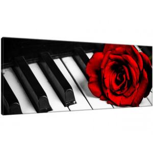 Róża na fortepianie 100x40