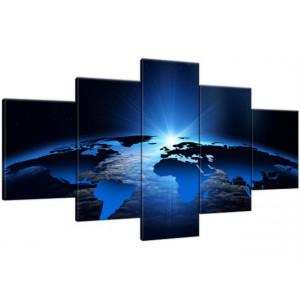 Łodzie rybackie 160x70cm - Obraz na ścianę