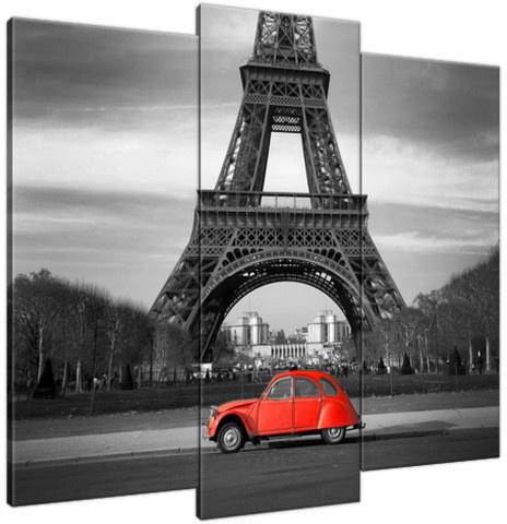 Obraz Czerwony samochód przed Wieżą Eiffla 1116A_3E