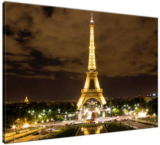 Obraz Paryż Wieża Eiffla - zdjęcie nocą 135A_1G